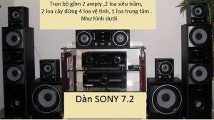 Sửa dàn máy nghe nhạc Sony 7.2 tại huyện Mê Linh tận nơi, giá rẻ